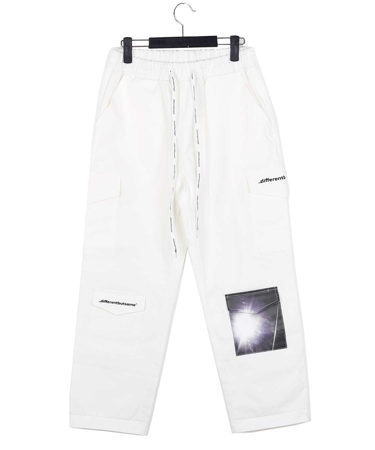 POCKET PATCHED 4 CARGO PANTS WHITE