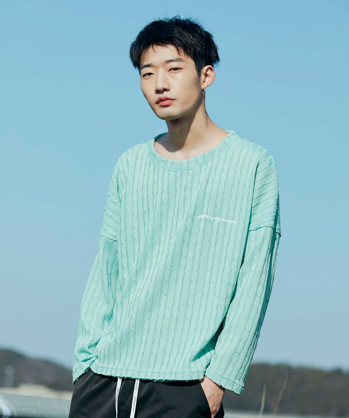 EMBROIDERY LOGO KNIT MINT